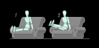 Abdominales en el sofá  paso 2