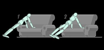 Ejercicio de Side to Side el sofa de casa