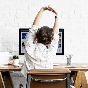 Convierte tu oficina en un espacio para hacer ejercicio