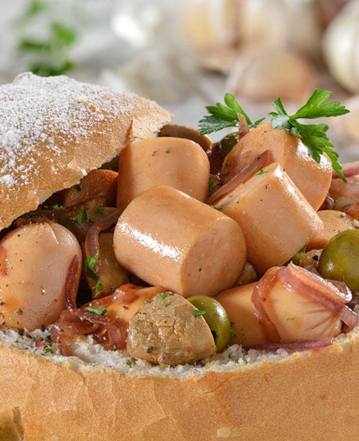 Pane cook con Salchichas de Pavo