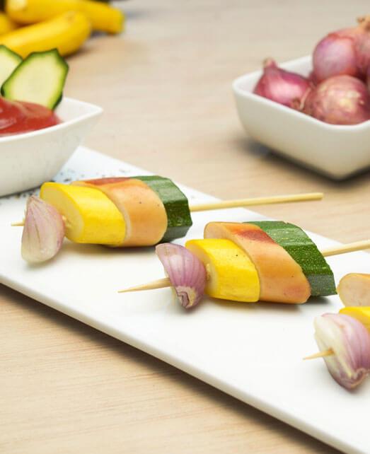 Pinchos de Zucchini con Salchicha de Pavo Pietrán