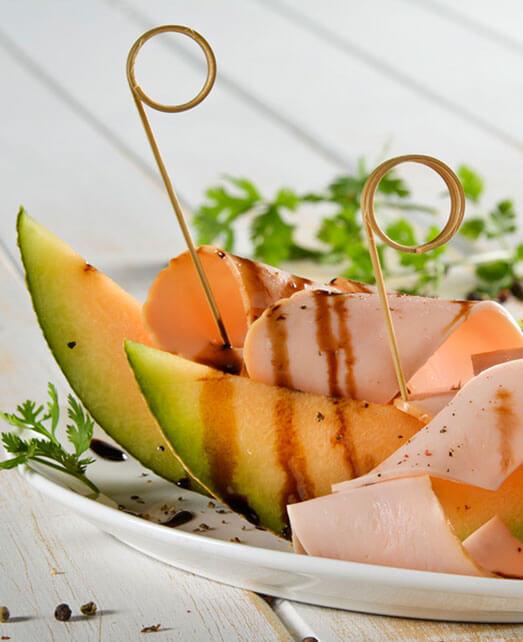 Jamón de Pavo Pietrán con melón