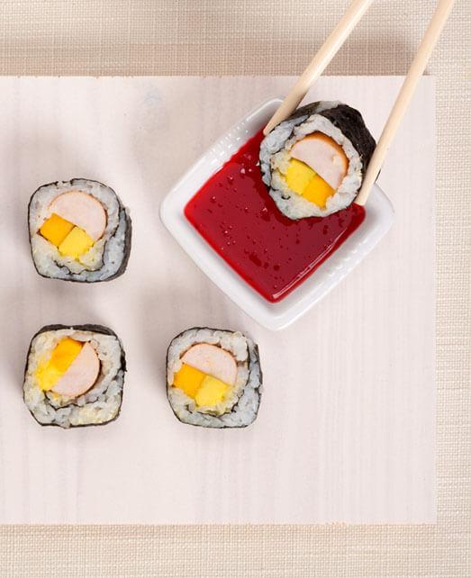 Sushi con Salchicha de Pavo Pietrán