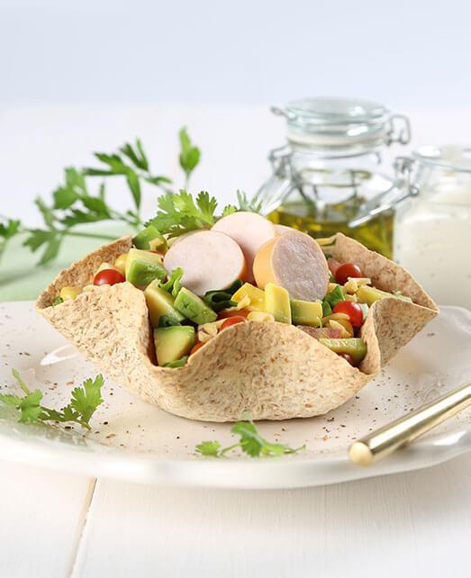 Receta saludable taco salad
