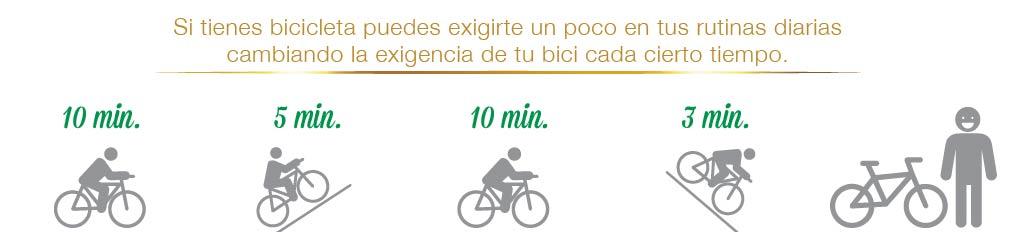 Rutinas de ejercicio en bici con Pietrán