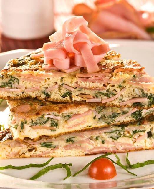 Tortilla de Jamón Pietrán con espinaca