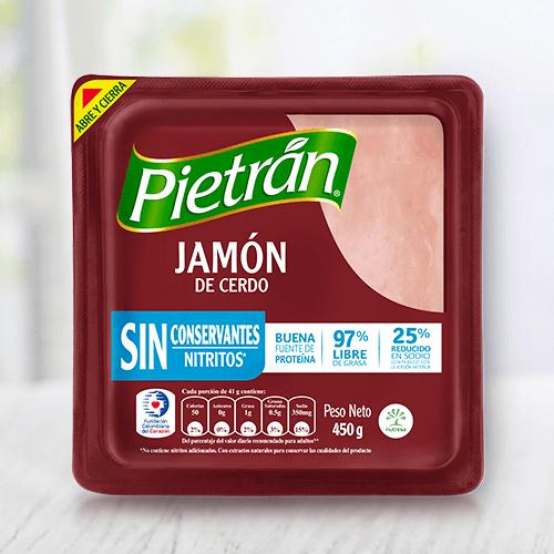 Haz tus preparaciones saludables con jamón Pietrán.
