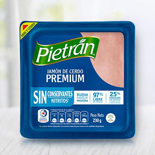 Prepara tus comidas con jamón Pietrán premium.