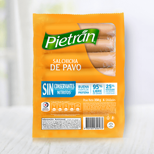Conoce las deliciosas salchichas de pavo Pietrán.