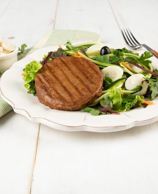 Veggie Burger con Ensalada