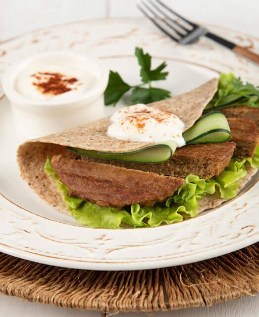 Wrap con Veggie Burger Pietrán