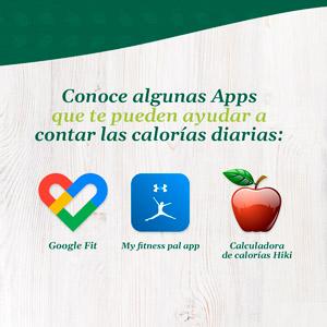 Administra calorías