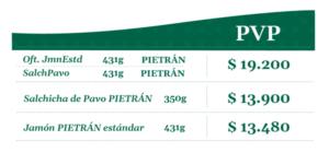 Tabla de precios sugeridos al público