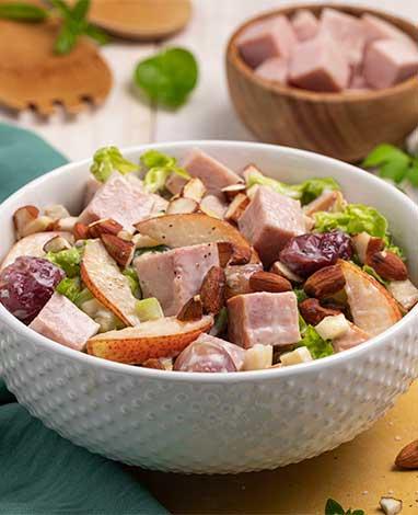 Receta de ensalada waldorf con jamon selecto