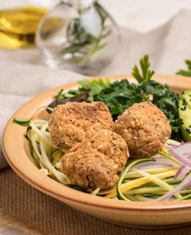 Receta Bowl de Veggie Nuggets con verduras y hortalizas