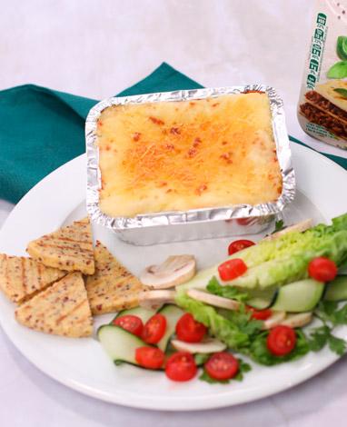 Receta de Veggie Lasagna con ensalada verde